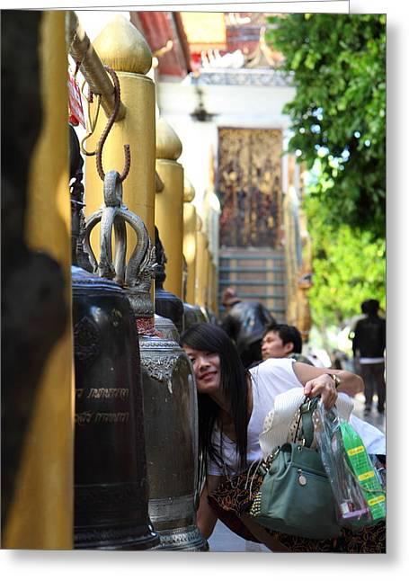 Ringing Of The Bells - Wat Phrathat Doi Suthep - Chiang Mai Thailand - 01132 Greeting Card