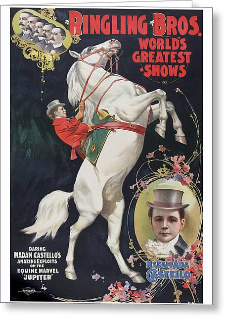 Ringling Bros 1899 Circus Poster Greeting Card