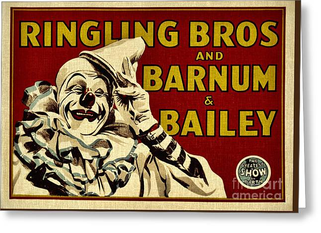 Ringling Bros   Barnum And Bailey Circus Greeting Card
