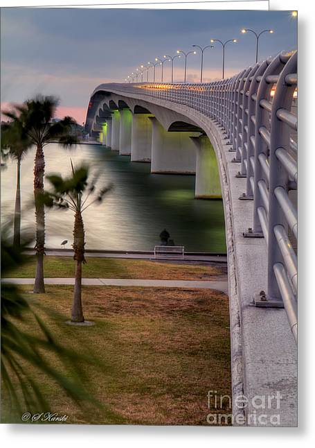 Ringling Causeway Bridge Overlook Greeting Card