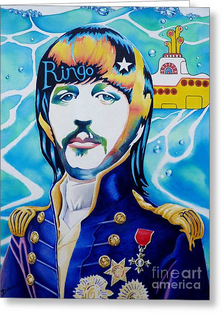 Ringo Greeting Card by Debbie  Diamond