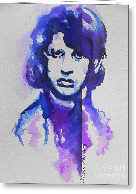 Ringo Starr 02 Greeting Card by Chrisann Ellis