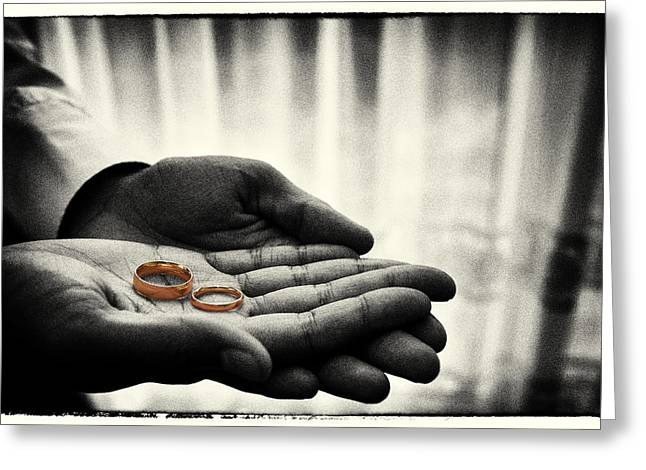 Rings Of Love Greeting Card by Richard Allen