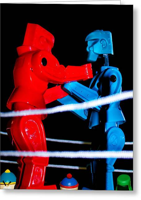Ringside Greeting Card by Pat Cook