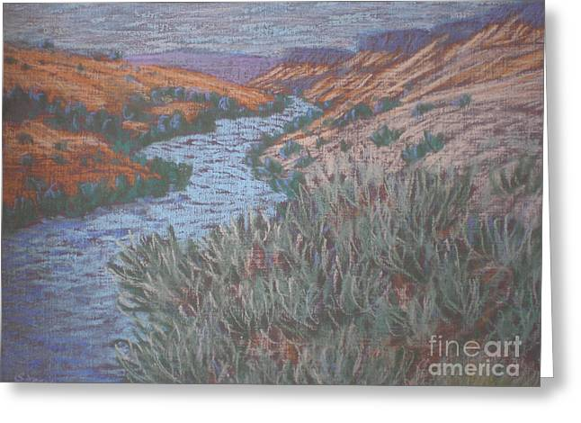 Rio Azul Greeting Card by Suzanne McKay