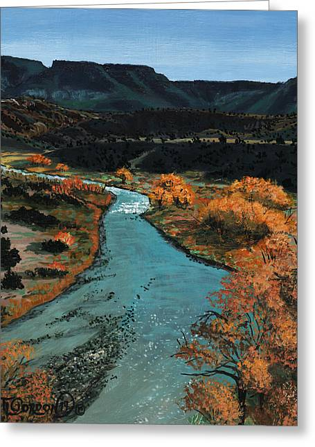 Rio Chama River Greeting Card by Timithy L Gordon