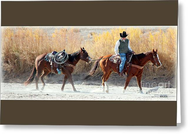 Rio Grande Cowboy Greeting Card by Barbara Chichester