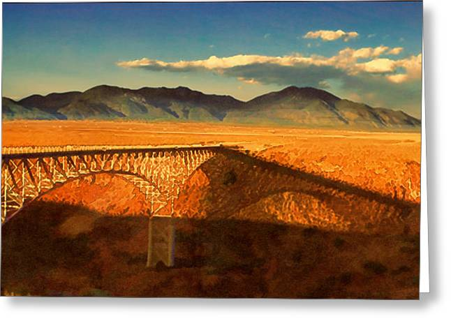 Rio Grande Gorge Bridge Heading To Taos Greeting Card