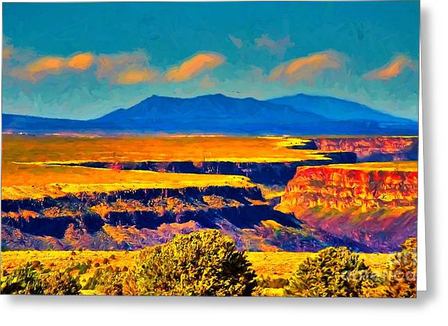 Rio Grande Gorge Lv Greeting Card
