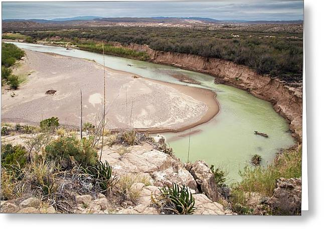 Rio Grande In Boquillas Canyon Greeting Card by Bob Gibbons/science Photo Library