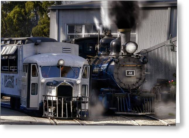 Rio Grande Southern 41 And Galloping Goose 3 Greeting Card