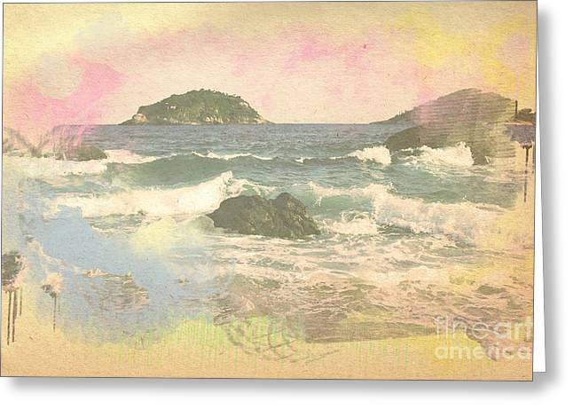Rio In Aquarelle Greeting Card by Will Cardoso