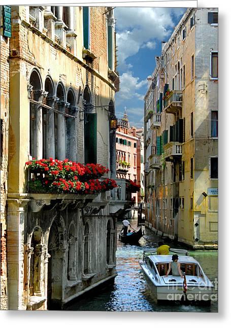 Greeting Card featuring the photograph Rio Menuo O De La Verona. Venice by Jennie Breeze