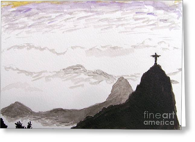 Rio Sunrise Greeting Card by Kevin Croitz