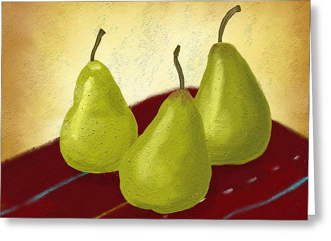 Ripe And Ready Painting Greeting Card by Linda Lees