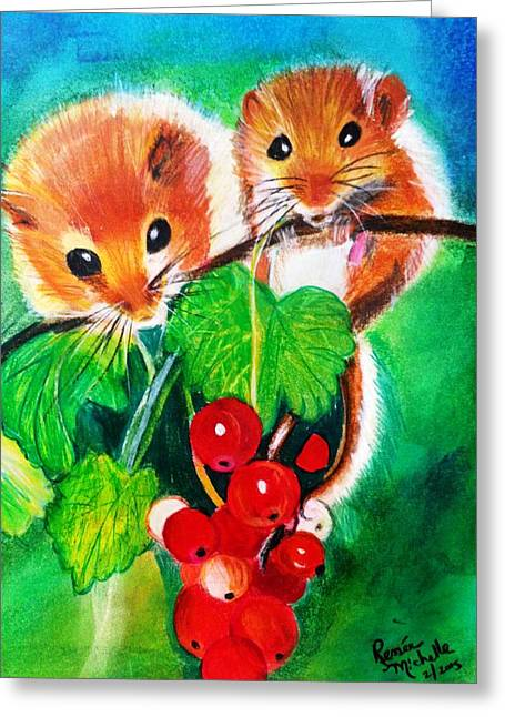 Ripe-n-ready Cherry Tomatoes Greeting Card by Renee Michelle Wenker