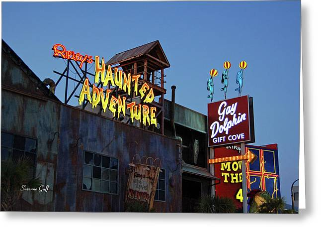 Ripleys Haunted Adventure And The Gay Dolphin-myrtle Beach South Carolina Greeting Card by Suzanne Gaff