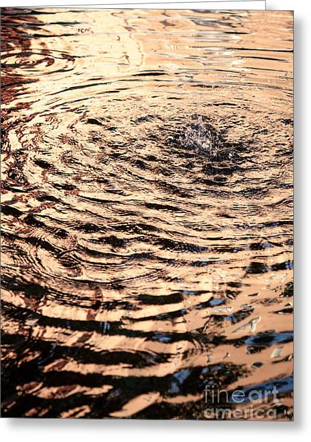 Ripple Reflection In Fountain Water Greeting Card