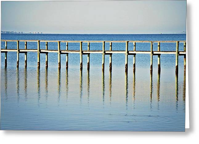 Rippled Reflections Greeting Card by Judy Hall-Folde
