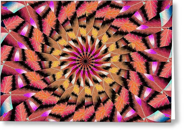Rippled Source Kaleidoscope Greeting Card