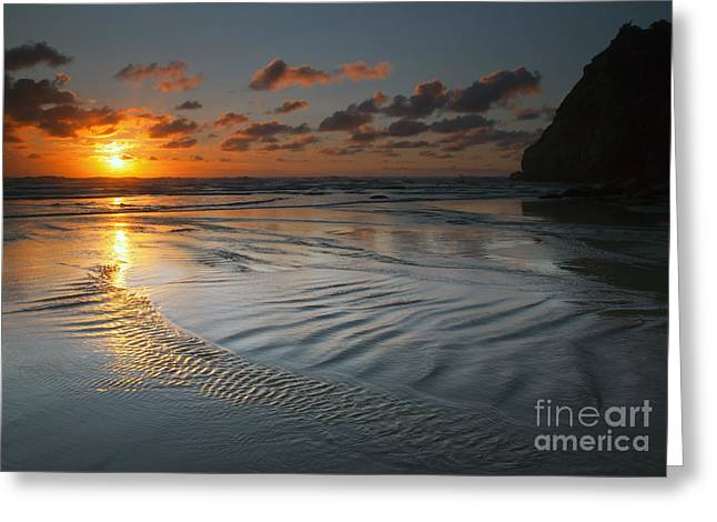 Ripples On The Beach Greeting Card by Mike  Dawson