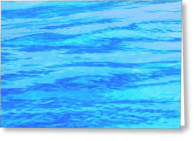 Ripples Pattern In The Ocean, Palau Greeting Card by Keren Su