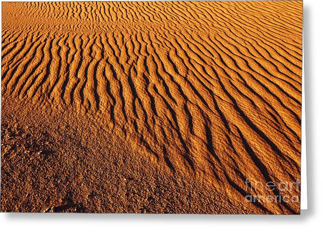 Ripple Patterns In The Sand 2 Greeting Card by James Brunker