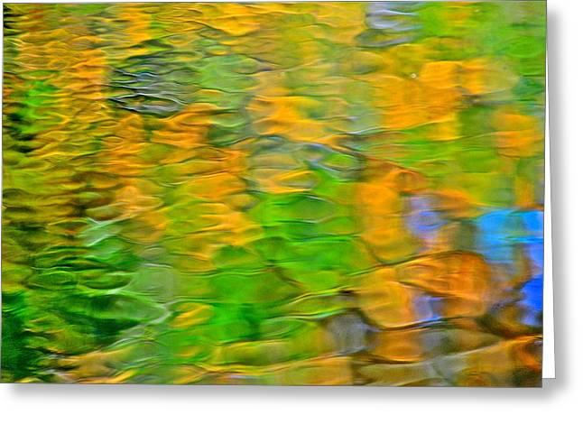 Rippley Reflection Greeting Card by Frozen in Time Fine Art Photography