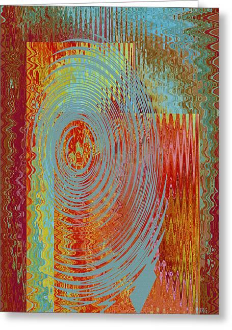 Rippling Colors No 3 Greeting Card by Ben and Raisa Gertsberg