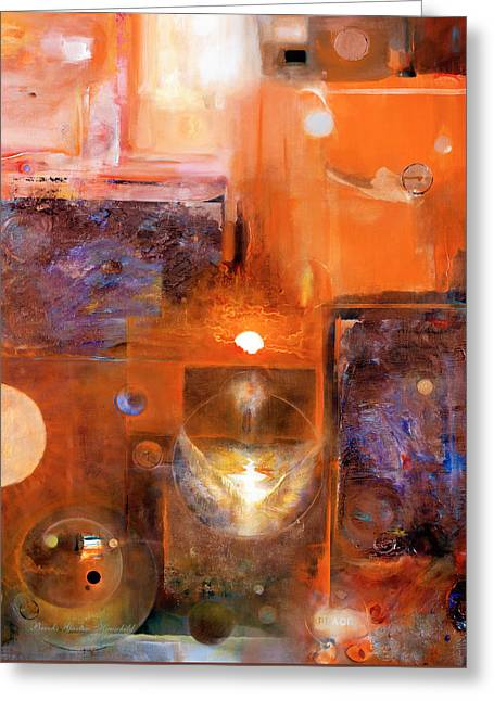 Greeting Card featuring the painting Rise And Shine 1 by Brooks Garten Hauschild