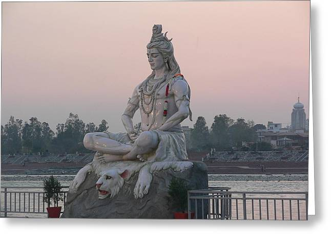 Greeting Card featuring the photograph Rishikesh by Geeta Biswas
