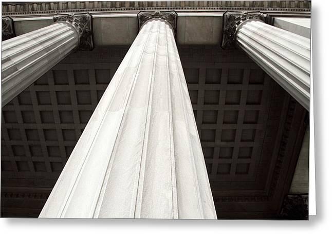 Rising Columns Greeting Card by David Rosenthal