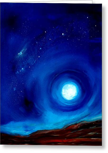 Rising Desert Moon Greeting Card