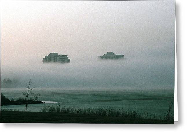Greeting Card featuring the photograph Rising From The Mist by David Porteus