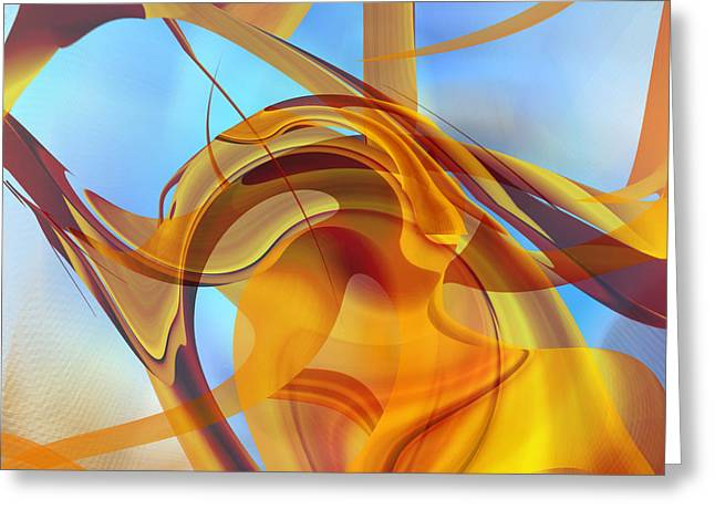 Rising Into Sky Blue Abstract Greeting Card
