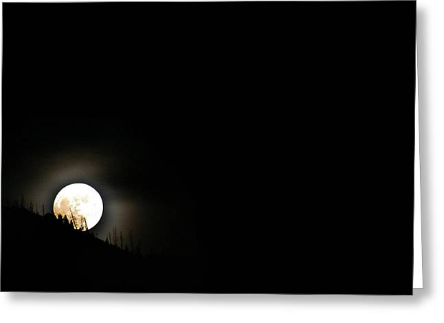 Greeting Card featuring the photograph Rising Moon by Joel Loftus