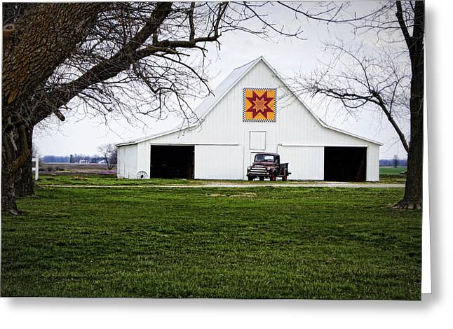 Rising Star Quilt Barn Greeting Card by Cricket Hackmann