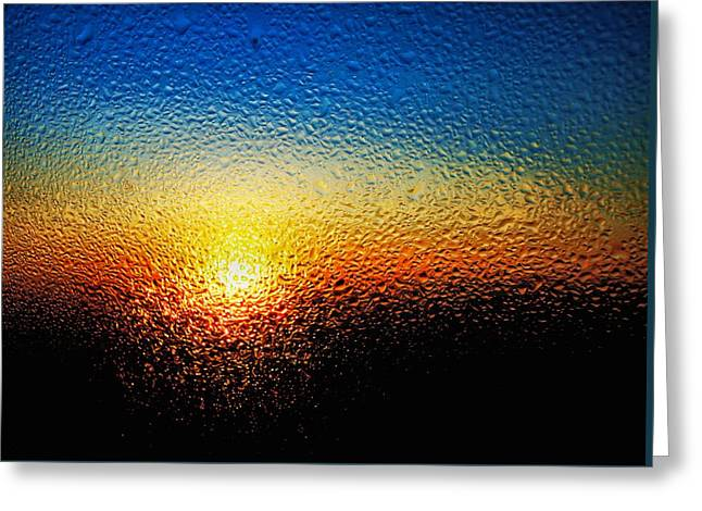 Rising Sun Greeting Card by Tom Druin