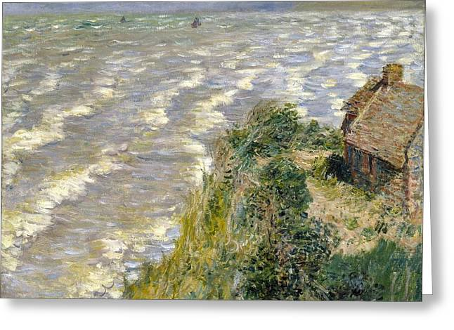 Rising Tide At Pourville Greeting Card by Claude Monet