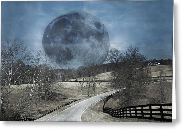 Rising To The Moon Greeting Card
