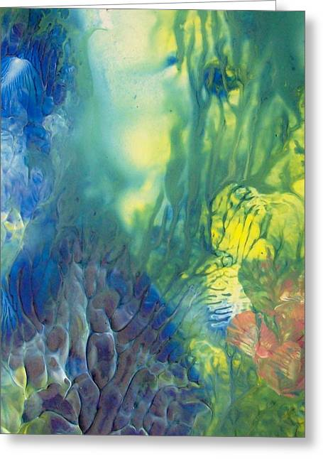 Rising To The Surface Greeting Card by  Sharon Ackley