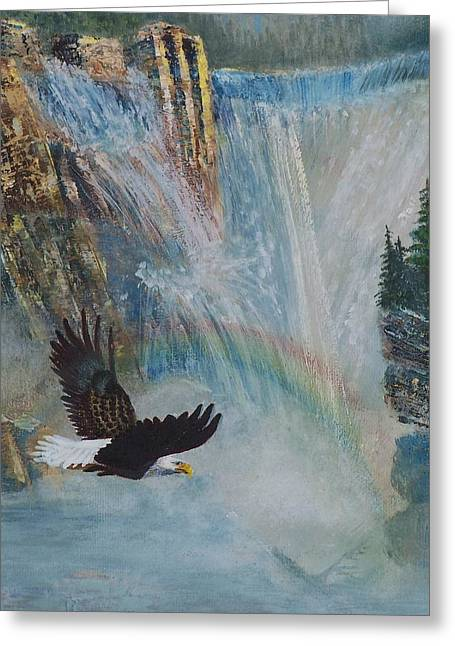 Rising Up With Eagle's Wings 2 Greeting Card