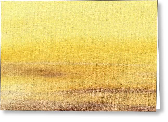 Rising Yellow Abstract  Greeting Card
