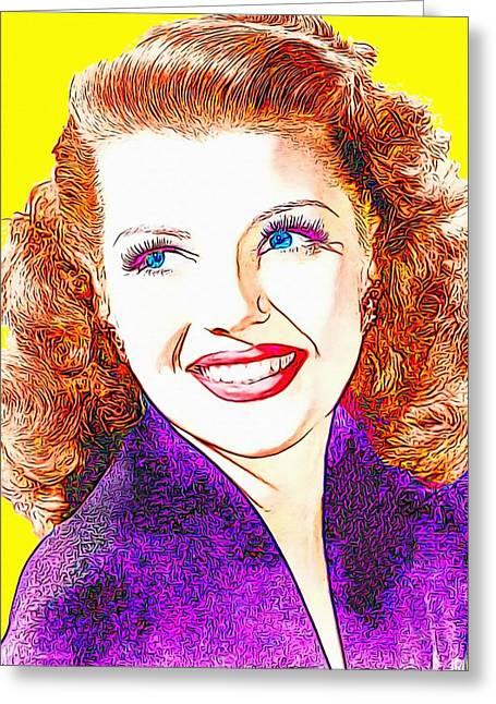 Rita Hayworth Greeting Card by Art Cinema Gallery
