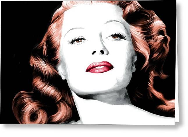 Rita Hayworth Large Size Portrait Greeting Card