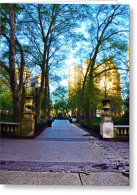 Rittenhouse Square Park Greeting Card by Bill Cannon