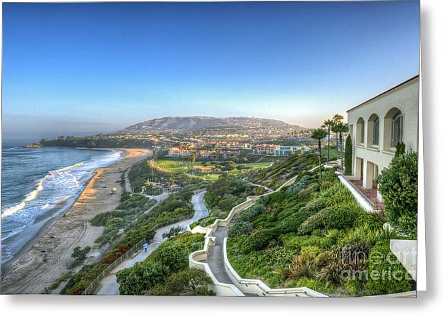 Ritz-carlton Laguna Niguel Ocean View Greeting Card by David Zanzinger
