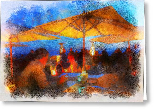 Ritz Patio Night Greeting Card
