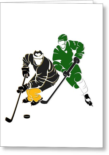 Rivalries Bruins And Whalers Greeting Card by Joe Hamilton