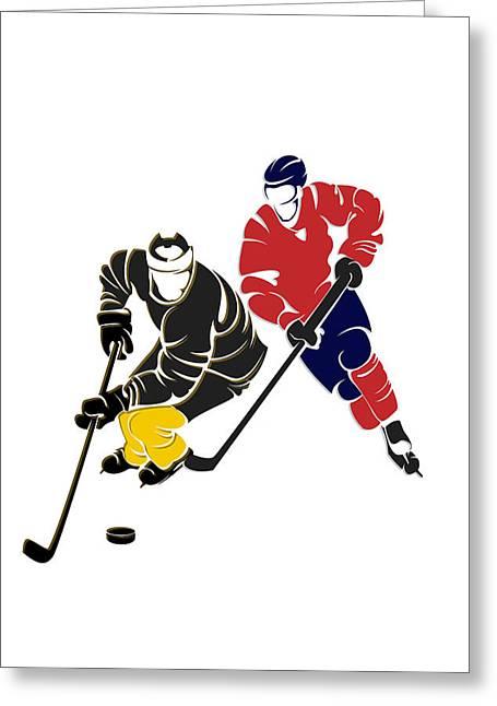 Rivalries Penguins And Capitals Greeting Card by Joe Hamilton